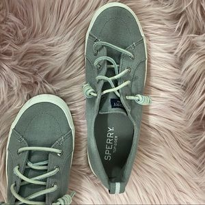 Sperry Top-Sider Gray Canvas Shoes Size 7.5
